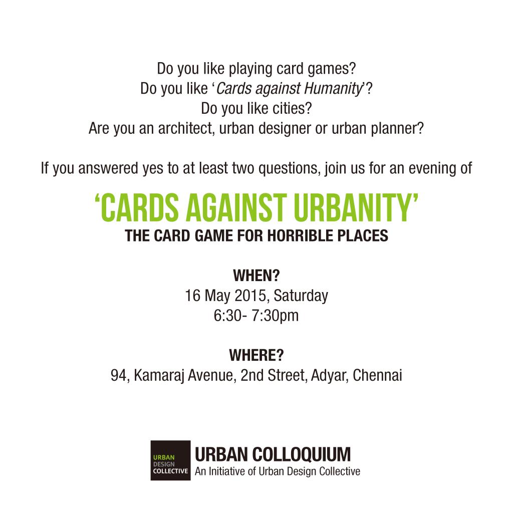 Urban colloquium_CAU_May 2015